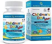 Nordic Naturals挪帝克 天然系列儿童DHA软胶囊,高效Omega 3配方,DHA有助于儿童认知发展、学习, 90粒