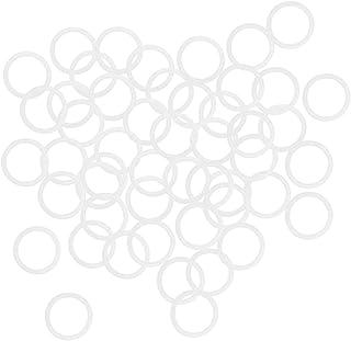 uxcell 硅胶 O 形圈,30mm 外径24mm 内径3mm 宽度 VMQ 密封垫圈,用于压缩机阀管道修复,白色,50 个装