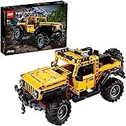 LEGO 乐高 42122 Technic Jeep Wrangler 4x4 玩具车,越野车 SUV 模型积木套装