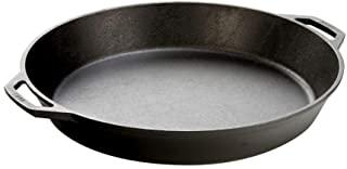 Lodge 调味铸铁煎锅,带2个环形手柄-人体工学煎锅,17英寸(约43.18厘米)