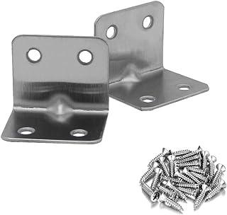 Benliu 不锈钢转角支架 L 形支架,90 度关节直角 L 支架,适用于家具五金架支架,带螺丝 13 件(31 x 38 毫米)
