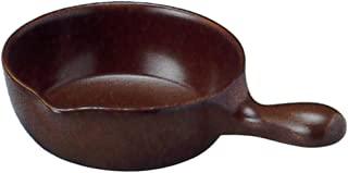 三陶 万古烧 炖锅 棕色 22.5x16x5厘米 155057 20-15505 适用于微波炉、烤箱、明火加热