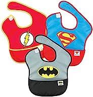 Bumkins 婴儿围嘴,DC漫画,蝙蝠侠,超人,闪电侠,SuperBib,防水,耐水洗,耐污渍和防臭,适合6至24个月的人群(3包)