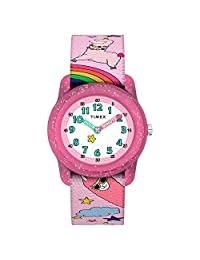 Timex Unisex-Children GirlsTW7C838009J Analog Fabric 粉色 TW7C838009J watches