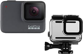 GoPro HERO7 银色 + 防护外壳 - 防水数码运动相机带触摸屏 4K 高清视频 10MP 照片稳定性