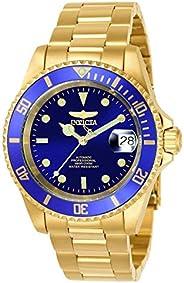 Invicta 男士8930OB Pro Diver 机械金色表带手表, Gold-Tone Bracelet