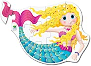 The Learning Journey - My First 大地板拼圖 - 美人魚 - 幼兒游戲和禮物 2 歲及以上兒童和女孩 - 獲*游戲