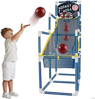 Vatocu 蓝色街机篮球篮筐游戏篮球射击训练玩具室内篮球街机游戏地下室玩具适合 3 至 6 岁儿童