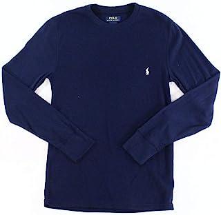 Polo Ralph Lauren 保罗拉夫劳伦男式折叠波纹混合媒体长袖圆领