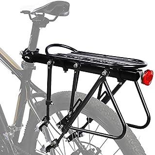 NAIZEA 自行车架,自行车架,自行车货架,实心轴承,通用可调节自行车行李架,自行车设备支架