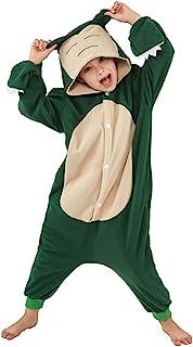 Snorlax 儿童动物睡衣角色扮演万圣节中性服装