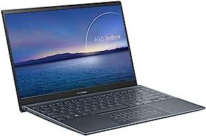 ASUS 华硕 UM425 35.56 厘米(14 英寸,全高清,IPS 级别,哑光)笔记本电脑(AMD Ryzen 7 5700U,16 GB 内存,512 GB 固态硬盘,共享显卡,Windows 10)松灰色