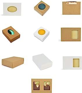 20 盒 CYP 手工皂盒样品套装 - 白色 - 牛皮纸 - 20 盒 - 20 盒组合包装!