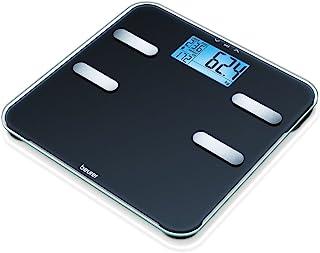 Beurer BF 185 体重秤,用于测量体重、体脂、水分、肌肉和骨质,活动代谢率(AMR)计算,带 10 个用户存储空间
