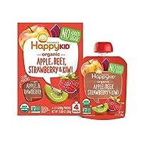 Happy Squeeze Organic 蘋果草莓獼猴桃 幼兒零食輔食 不添加糖 Non-GMO 90g*16件裝