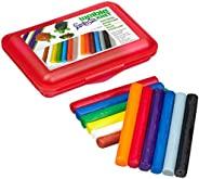 Weiblespiele 08340-1 – 学校用橡皮泥,含12卷橡皮泥,红色