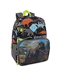 图片更换双肩恐龙背包男孩 - 小学和中学生全息图背包