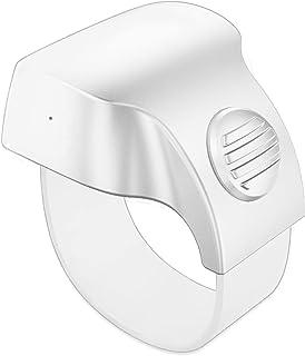 UMIXGENE 相机快门无线智能遥控环,便携式蓝牙无线自拍智能指环 - 兼容 iPhone、iPad、Android、Samsung 三星、智能手机和平板电脑(白色)