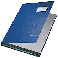 Leitz 57010035签名文件夹 , 10格 , 镀层 PP , 蓝色