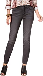 Style & Co 曲面修身牛仔裤,黑色晕染 6