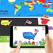 Imagimake Mapology World AR - 增强现实教育玩具和男孩女孩互动学习辅助工具 - STEAM 玩具(麻木世界AR)(麻木世界AR)(麻木学世界AR)