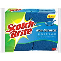 3M Scotch SB-S Scotch-Brite 海绵:防刮擦海绵/4 包(蓝色)/4 包