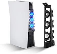 PS5 散热风扇带 LED 灯和额外 USB 端口,PS5 配件冷却风扇适用于 Playstation 5 数字和光盘版本控制台