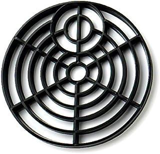 批发硬件 BH02808 塑料圆形玻璃柱格栅,150mm(6 英寸)直径。 - 黑色,2 件装