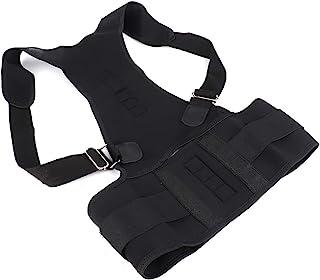 姿势矫正器,可调节上背部支撑支撑支撑,为男士和女士提供颈部、背部和肩部*缓解 (S)