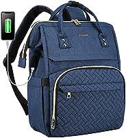 LOVEVOOK 女式笔记本电脑背包 时尚商务电脑背包 旅行包 钱包 学生书包 教师 *工作背包 带 USB 端口适合 15.6 英寸笔记本电脑 *蓝