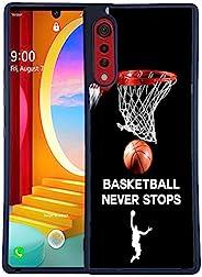 Bolster TPU 手机壳适用于 LG Velvet/LG Velevet (5G) - 篮球*停止印花设计师软橡胶 TPU 保护防震后壳/LG Velevet (5G)