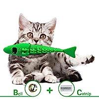 Milecan 猫*玩具猫牙刷龙虾玩具食物猫薄荷喂食器牙齿刷牙自清洁牙刷无牙膏互动游戏喂食玩具带铃铛适用于小猫
