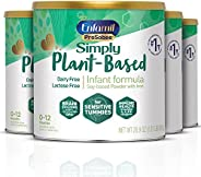 Mead Johnson 美赞臣 Enfamil 铂睿 ProSobee 奶粉,适合对大豆敏感的婴儿,无乳制品,无乳糖,无奶,无大豆,植物蛋白粉,22盎司/约623.69克,罐装(4罐装)