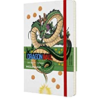 Moleskine - 龙珠记事本限量版 - 横格笔记本 - 龙主题 - 精装主题图片和细节 - 尺寸 13 x 21 厘米,颜色白色,240 页