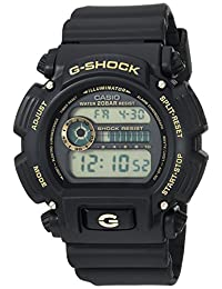 Casio Casio 男式'G-Shock'石英树脂手表,颜色:黑色(型号:DW-9052GBX-1A9CR)