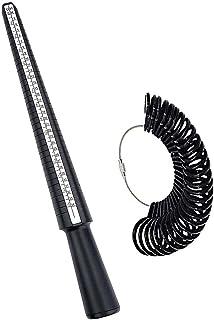 戒指尺寸测量工具套装,指环尺寸测量棒,戒指芯棒,珠宝制作工具 0-13 美国尺码 英国手指尺寸环工具