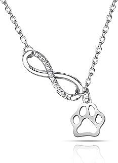 爪印项链首饰丢失宠物项链爪印爱心珠宝宠物纪念礼物