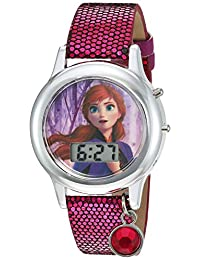冰雪奇緣女孩石英手表*皮革表帶,粉色,13(型號:FZN4507AZ)
