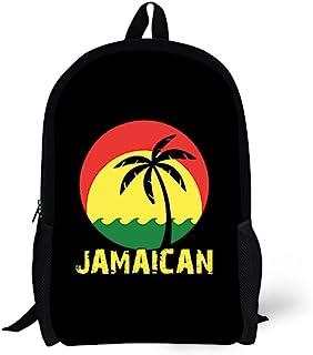 Nakgn 可爱图案背包书包,适合青少年儿童、女孩儿童 椰子树 Reggae Color Jamaican One_Size
