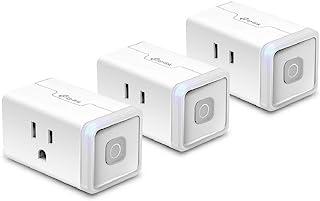 TP-Link 普联 Kasa Smart 插头 HS103P3,智能家居 Wi-Fi 插座,适用于 Alexa、Echo、Google Home 和 IFTTT,无需集线器,遥控器,15 安培,UL 认证,3 件装,白色