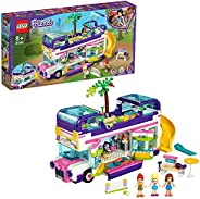 LEGO 乐高 41395Friends Friendship巴士玩具,带游泳池和滑梯,适合8岁以上儿童的暑假玩具