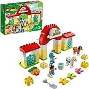 LEGO 乐高 10951 DUPLO Town 马厩小马护理玩具,适合 2 岁以上幼儿,学龄前儿童玩具套装