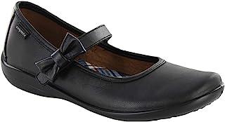 COQUETA 玛丽珍优雅平底鞋带蝴蝶结黑色学校制服皮鞋(幼儿/小童/大童)