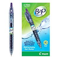 ilot B2P - Bottle to Pen - Retractable Gel Roller Pens Made from Recycled Bottles, Fine Point