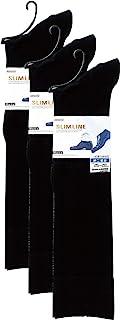ATSUGI 袜子 [日本制造] SLIM LINE Men's(修身线男款) 透明棉混纺 高筒袜〈3双装〉