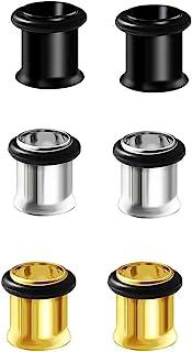 Bngukju 3 对*钢单喇叭口径扩张器拉伸套件插头穿孔 6 种颜色相同尺寸 4G ~ 1 英寸