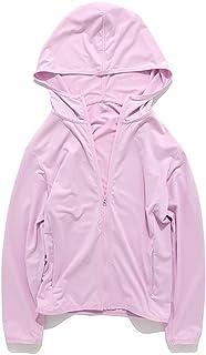 SELILALI 儿童*连帽衫长袖 UPF 50+ UV 衬衫轻薄连帽夹克,带拇指孔