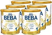 Nestlé BEBA雀巢贝巴 SUPREME 1段初始奶粉:适合新生儿 富含Omega 3, 6罐装 (6 x 800g)