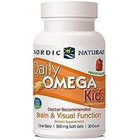 Nordic Naturals (挪威小鱼) - 每日Omega哄骗草莓 500 mg。30软胶囊