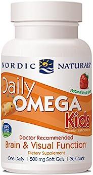 Nordic Naturals 挪帝克 儿童日常欧米茄,草莓 - 30 粒迷你软凝胶 - 340 毫克总Omega-3 含 EPA 和 DHA - 视觉功能 - 30 份